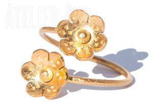 Duplice Goud op Sterling Zilveren Ring