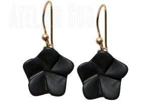 ster zwarte onyx-oorbellen