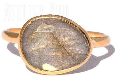 Amorfo Labradoriet Ring