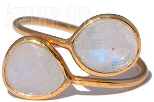Dual Maansteen Ring