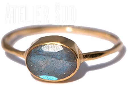 Ovala Labradoriet Ring