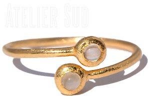 Dobbel Maansteen Ring