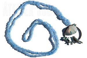 Frosti Blauw handgemaakte ketting