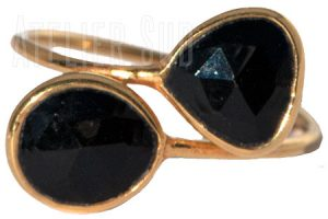 Dual Zwarte Onyx Ring