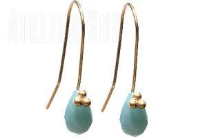 handgemaakte oorbellen met echte edelstenen