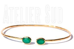 Handgemaakte goud op koperen armband