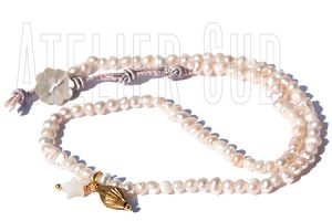Loulou Witte Parelketting