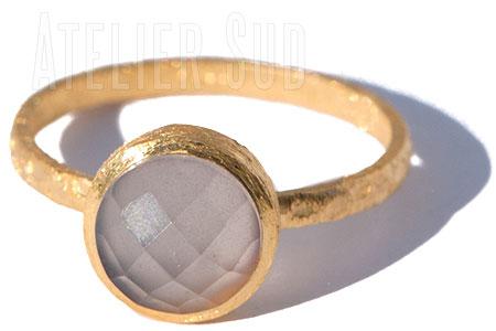Resi Natuurlijke Chalcedoon Ring