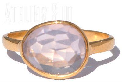 Amorfo Rozenkwarts Ring