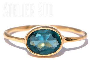 Ovala London Blue Topaz Ring