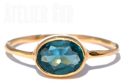 Ovala London Blue Topaz Ring