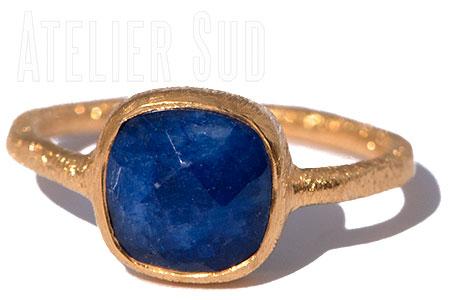 Carre Blauwe Onyx Ring