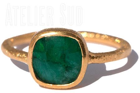 Carre Groene Onyx Ring