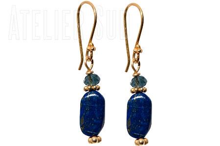 Handgemaakte Oorbellen Lapis Lazuli