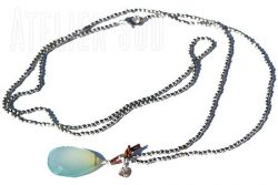 Happy Aqua Chalcedoon Ketting