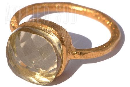 Magna Lemon Kwarts Ring