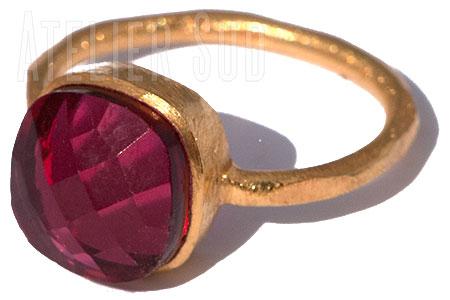 Magna Rode Kwarts Ring