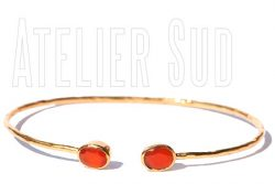 Handgemaakte armband met Carneool edelstenen