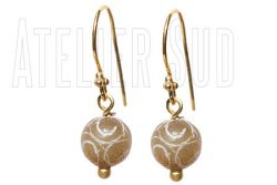 Nina Koreaanse Jade handgemaakte oorbellen met edelstenen