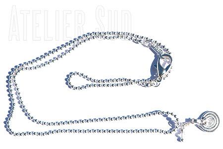 Korte vergulde ball-chain ketting met een sterretje en een Rozenkwarts edelsteentje